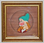 Snow White Art Walt Disney Animation Artwork Bashful Courvoisier (Framed)