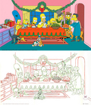The Simpsons Art 20th Century Fox Animation Artwork The Grift of the Magi