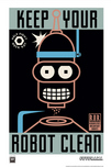 Futurama 20th Century Fox Animation Artwork Keep Your Robot Clean