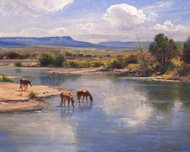 Robert Peters Western Art On the Little Colorado (SN)