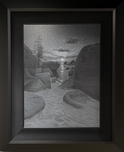 Phillip Anthony Art Landscape On the Rock - Original (Framed)