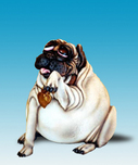 Todd Warner Whimsical Art The Grande Dame Of Pugdom