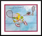Tweety Bird Art Warner Brothers Animation Artwork Anyone for tennis?