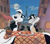 Lady and The Tramp Art Walt Disney Animation Artwork They Eat Pasta Too!