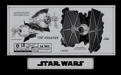 Star Wars Superhero Artwork Tie Fighter (Sketchplate)