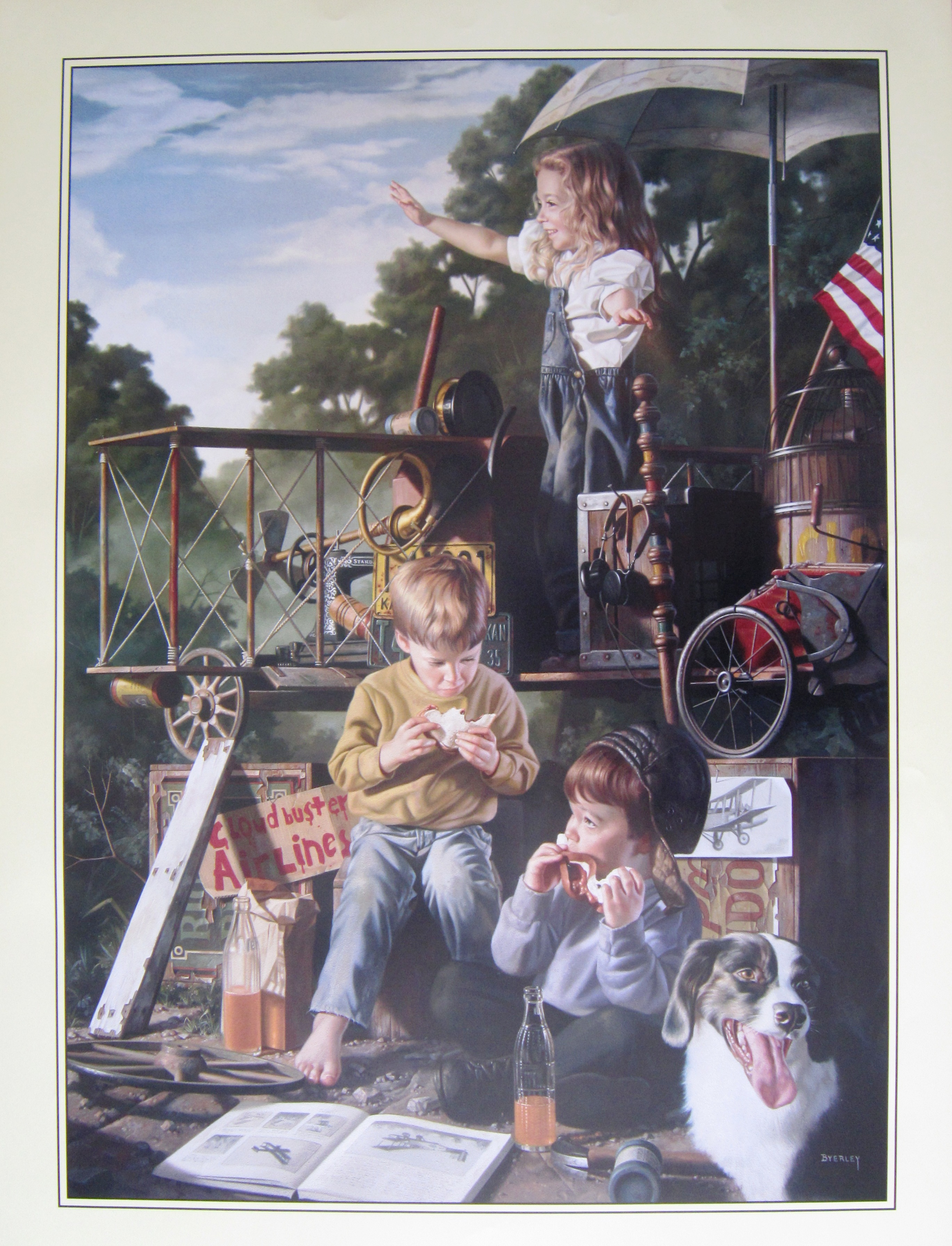 Bob Byerley Cloudbuster Airlines Poster signed!