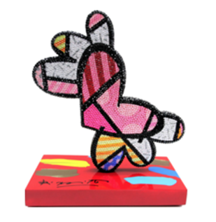 Romero Britto Jeweled Flying Heart (Hand Embellished)