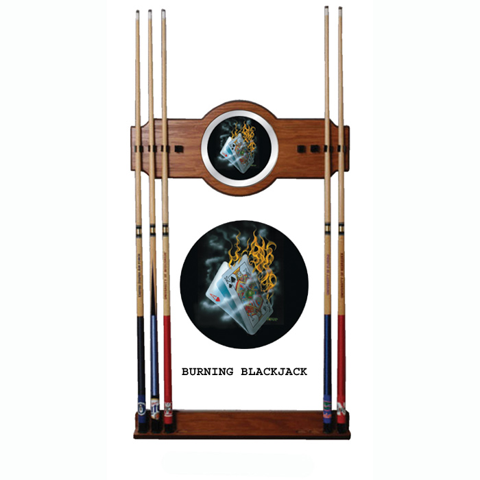 Michael Godard Burning Blackjack - Pool Cue Rack