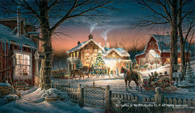 Terry Redlin Trimming the Tree