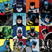 Batman Art Limited Edition Giclee on Canvas Faces of Batman (Canvas)