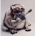 Todd Warner Sculpture Poker Face - Bulldog