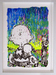 Peanuts Art Original Acrylic on Paper Coconut Fabulous (Original) - Framed