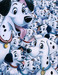 One Hundred and One Dalmatians Art Limited Edition Giclee on Canvas 101 Dalmations