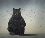 Robert Bissell Limited Edition Giclee on Canvas Hero II - Bear (32 X 40)