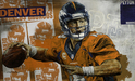 Stephen Holland Limited Edition Giclee on Canvas Hurry Hurry - Peyton Manning (MP)