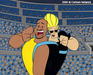 Johnny Bravo Limited Edition Hand-Painted Cel Johnny and Shaq