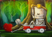 Fabio Napoleoni Limited Edition Giclee on Paper Let's Get This Show On The Road (SN)