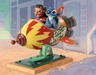 Bambi Film Art Sculpture Storefront Spaceship - Lilo and Stitch