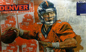 Stephen Holland Limited Edition Giclee on Canvas Hurry Hurry - Peyton Manning (SN)