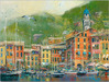 Limited Edition Giclee on Canvas Portofino Coast (20 x 26.5)