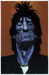 Sebastian Kruger Art Original Acrylic on Board Orange/Blue - Ronnie Wood (Original Painting)