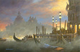 John Kelly Limited Edition Giclee on Canvas Twilight in Venice (AP)