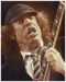Sebastian Kruger Art Limited Edition on Illustration Board Angus Young- Angus