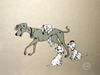 One Hundred and One Dalmatians Art Limited Edition Sericel Perdita & Pups