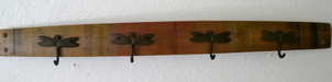 Brad Evans Furniture Wine Barrel Stave Rack - Dragonfly Hook Design
