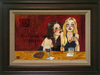 the art of todd white Limited Edition Giclee on Canvas Girly Drinks