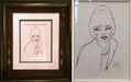 todd white art for sale Original Drawing The Hot Spot (Original Sketch)