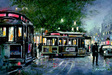 John Kelly Limited Edition Giclee on Canvas Last Cable Car (AP)