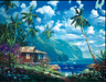 Limited Edition Giclee on Canvas Paradise Memories