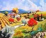 Joanny Limited Edition Serigraph on Canvas Pear Trees in the Fall