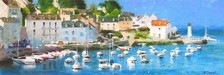 Eugene Segal Limited Edition Giclee on Canvas Yachts in Normandy