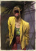 Sebastian Kruger Art Original Acrylic on Board Yellow Jacket - Mick Jagger (Original Painting)